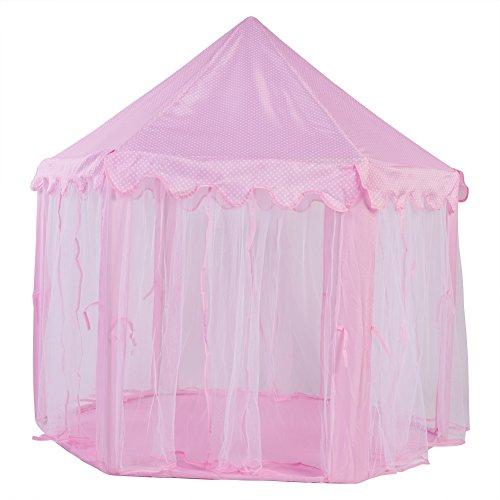 Tienda de Juguetes para niños, Tienda de campaña en el Castillo, Material de Tela de Calidad Que promueve el Desarrollo del Cerebro Niños duraderos y fáciles de Limpiar para niñas(Pink)