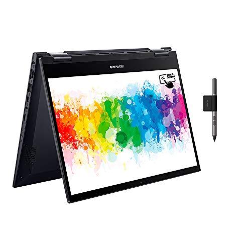 ASUS VivoBook Flip TM420IA Full HD 14' Touchscreen Convertible Laptop (AMD Ryzen 3 4300U, 8GB RAM, 128 GB SSD, Windows 10 Home) Includes Stylus + Stylus Holder, Black