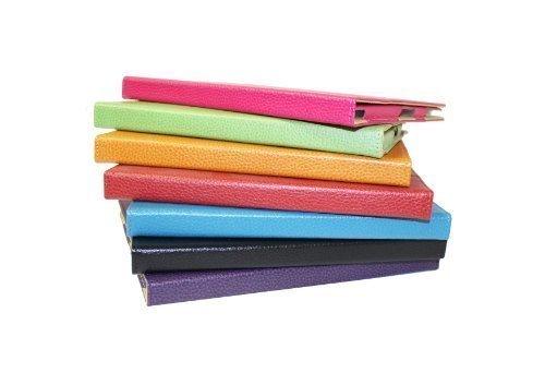 iPad-Hülle Leder, Kosmetikmappe, Aubergine, 1 undfür iPad 2