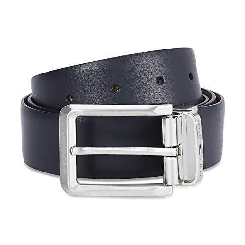 Tommy Hilfiger Men's Leather Belt (TH/GAKONAREV0823M_Navy/Cognac_Medium)