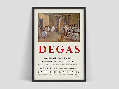 Póster de Edgar Degas Ballest, póster de exposición oficial de Degas, Degas Ballet, arte de museo, lienzo sin marco Q-73 30x40cm