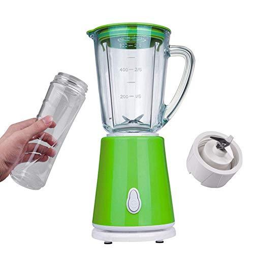 IW.HLMF Juicer machines,Blender and Grinder Milkshake and Smoothie Maker with 600ML Glass Jug, 500ML Free Tritan Cup for Juice Shakes and Smoothie, Milkshake, Fruit Vegetables Drinks, Ice,Green peng