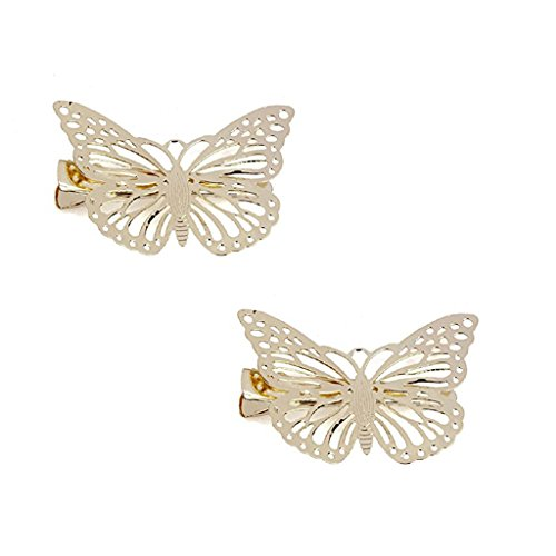 Unbekannt Vintage Diseño de Mariposas Aguja Pelo, Pinza de Pelo Horquillas
