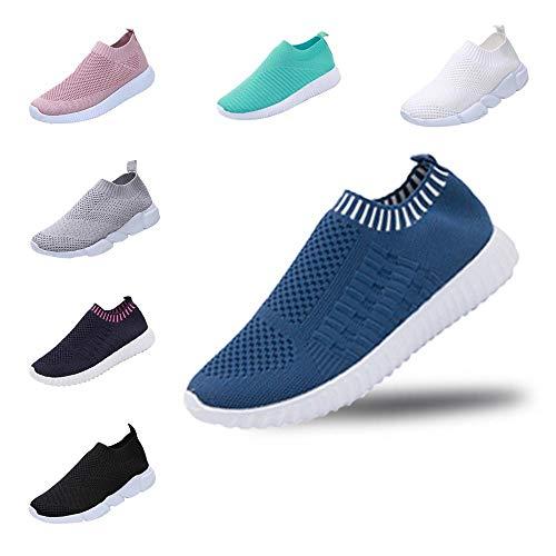 YWLINK Mode Mesh Damen Sneakers Outdoor Mesh Freizeit Sportschuhe Klassisch Atmungsaktive Laufschuhe (B Blau,39 EU)