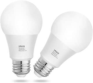 Dusk to Dawn LED Light Bulbs Sensor Light Bulb 7W Smart Light Lamp E26/E27 Auto On/Off,Indoor/Outdoor for Porch Garage Garden Hallway(Warm White 2700K,2 Pack)