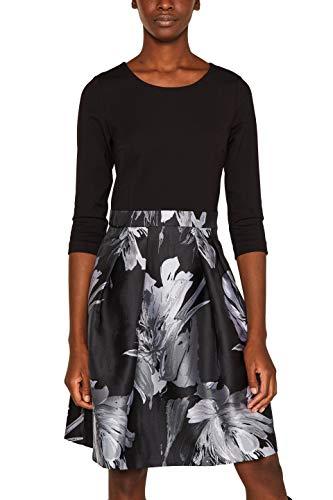 ESPRIT Collection Damen 109Eo1E004 Kleid, Schwarz (Black 001), (Herstellergröße: 36)