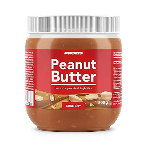 Prozis Foods Crema de Cacahuete, Sabor Cruijente - 500 gramos