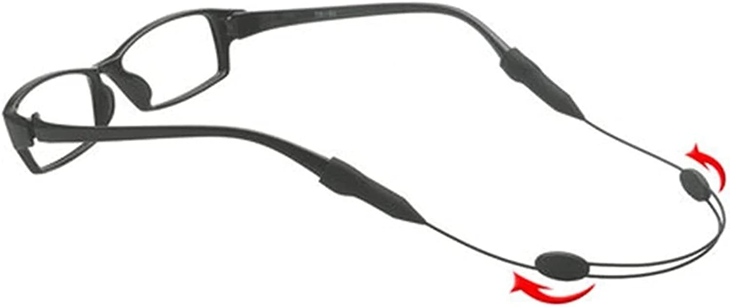 GWSD Glasses Strap Neck Cord Water Sport Eyeglasses Accessories Sunglasses Chain Band Rope Adjustable String Holder (Color : Black)