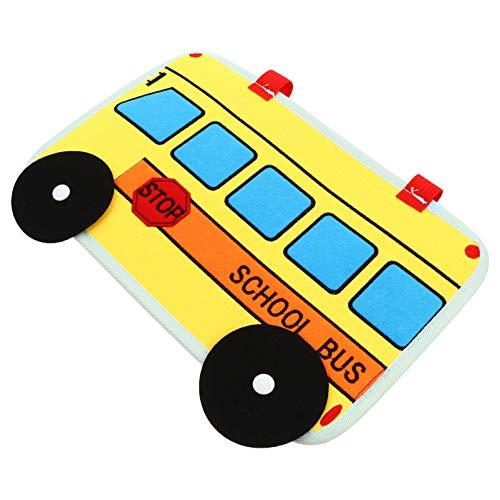 jojofuny 1 Pieza de Juguete de Tablero Ocupado para Niños Pequeños Tablero de Actividad Estilo Autobús Escolar Juguete Educativo Montessori para Niños Pequeños