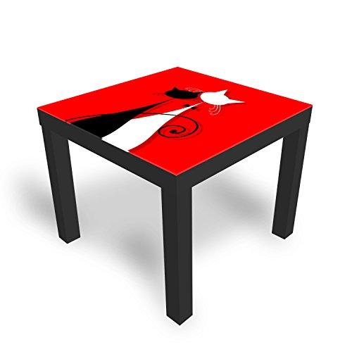 Ikea Table basse en verre avec plateau en verre pour chat