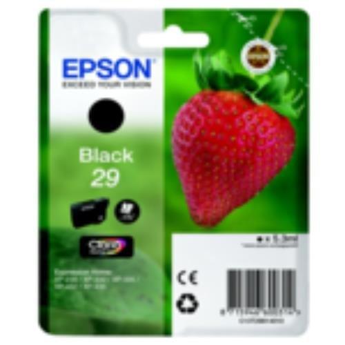 Epson C13T29814010 (29) Cartucho de Tinta Negra, 175 páginas, 5 ML