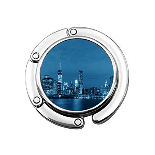 Hermosa ciudad Skyline View Bolsos Titulares Percha para monederos Mesa Diseños únicos Sección plegable Almacenamiento Perchero...