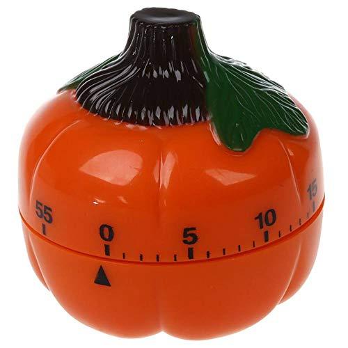 VEADK Küchentimer 1-60 Minuten Küchenwecker Küchentimer Eieruhr orange, Kürbis