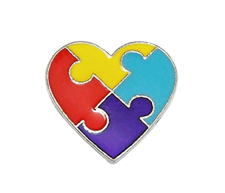 Autism Awareness Puzzle Heart Lapel Pin
