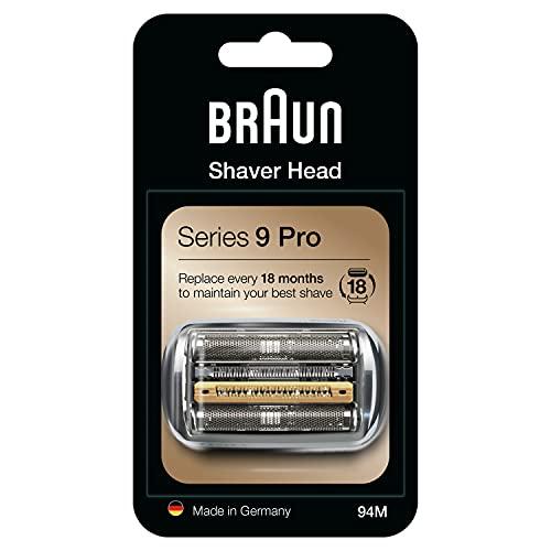 Braun Elektrorasierer Ersatzscherteil 94M, Silber, kompatibel mit Series 9 Pro und Series 9 Rasierern