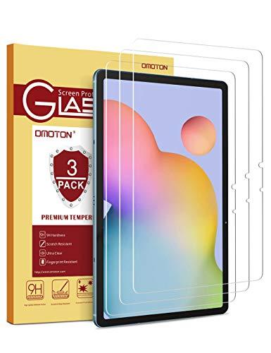 OMOTON [3 Stück Panzerglasfolie für Samsung Galaxy Tab S7 [11 Zoll] [9H Härte] [HD-Klar] [Kratzfest] [bläschenfrei]