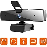 Webcam with Microphone,1080P Live Streaming, QTNIUE Desktop or Laptop Webcam for Video Calling
