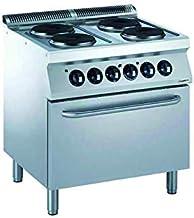 Cuisinière Électrique Pro 700 4 Plaques Rondes et Four Électrique 6 kW - Combisteel