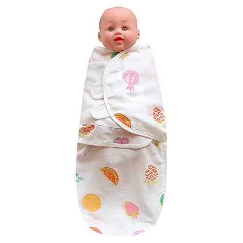 B/H Bébé Unisexe Gigoteuses,Serviette enveloppante Anti-Choc en Gaze pour bébé,Nouveau-né bébé câlin Couette Sac de Couchage-Fruit_L,Naissance Pyjama pour Enfant