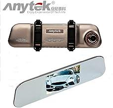 Tarjeta TF de 16 GB + Anytek @ A80 tarjeta Dash Cam, HD 1080p doble lente DVR cámara de vídeo grabadora de coche ultra delgado espejo retrovisor cámara de salpicadero de coche G-Sensor