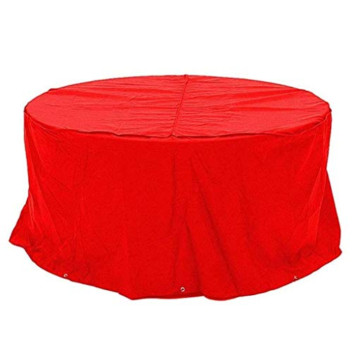 SEESEE.U Garden Furniture Covers Waterproof 250x110cm, Patio Furniture Cover, Tarpaulin Round Waterproof Anti-aging Oxford Cloth Chair Coffee Table Dining Table, Red, Customizable,Red