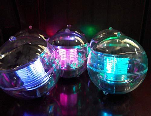 4 X Solarleuchten Poolleuchte RGB Farbwechsel LED Solar Schwimmende Licht Teich Licht Garten Hängende Kugel Licht Wasserdicht ABS Kunststoff für Garten Schwimmbad Teich Party Home Decor