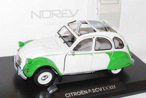 Norev Citroen 2CV Dolly 1985 Weiss Grün 1/18 Modell Auto