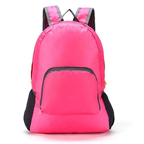 20L opvouwbare waterdichte rugzak voor dames, lichtgewicht, reistassen voor dames, rose rood