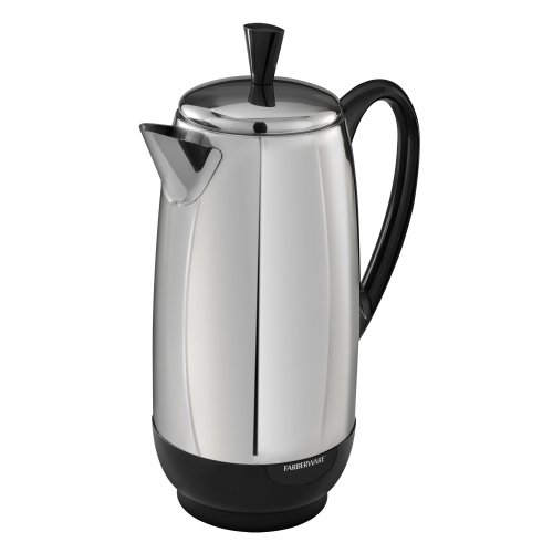 Farberware FAC200TB PK1200SS Coffee Percolator, Stainless Steel