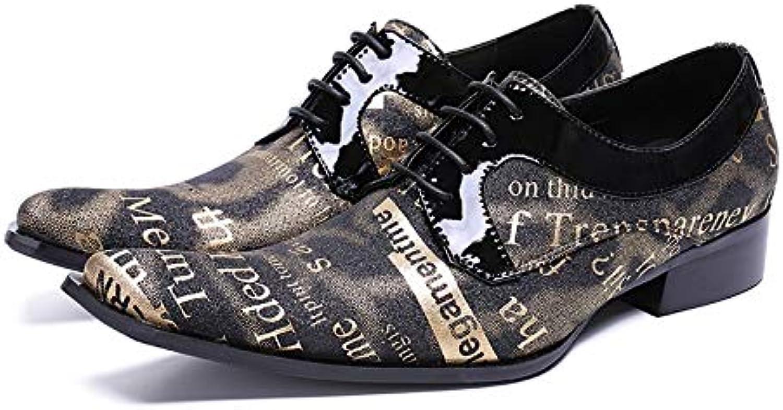 LOVDRAM Mnner Lederschuhe Mnner Oxfords Schuhe Spitz Lackleder Lace-Up Mnner Kleid Schuhe Flatsfashion Nubukleder Hochzeitsschuh