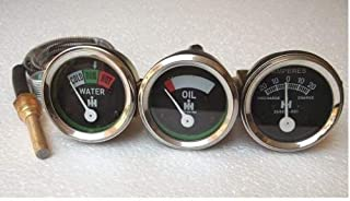 IH/Farmall Tractor Gauge Set-Oil+Temp+Amp Gauge fits in H, I4,I6,I9, M,O4,OS4,O6,OS6, TD6,W6, W9,WD9