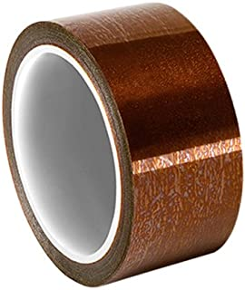 3 Core Black 1//2 x 36 yd Maxi 690BL-0012 Polyimide High Temperature Insulation Tape Total Thickness 3.5 mil Coated with a Pressure Sensitive Acrylic Adhesive System