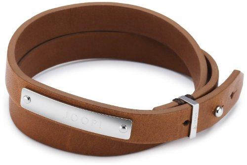 Joop! Herren-Armband Bruce Leder braun Edelstahl ca. 22 cm (19 + 3 cm) JPBR10299A220