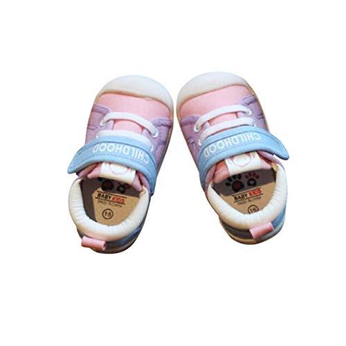 N CSI Corrections DEBAIJIA Lauflernschuhe Babyschuhe 1-4 Jahre Kinder Schuhe Kleinkind Jungen Mädchen Weiche Sohle Rutschfeste Segeltuch Atmungsaktiv Leichte Klett Turnschuhe Draussen - 21 EU