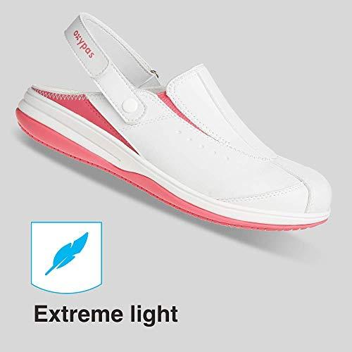 Oxypas Iris, Zapatos de Seguridad Mujer, Blanco (Fux), 40 EU (6.5 UK)