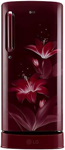 LG 190 L 3 Star Direct Cool Single Door Refrigerator(GL-D201ARGX.ARGZEBN, Ruby Glow, Base Stand with Drawer,Smart Inverter Compressor)