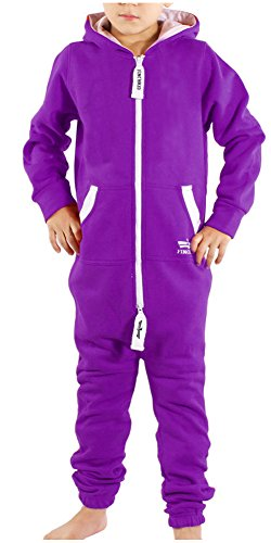 Finchkid 93A3 Kinder Jumpsuit Overall Jogger Anzug Onesie Lila 6-9 Monate