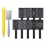 Jackallo Nail Magnet Tool Set, Cat Eyes Magnet Stick Placa magnética Tablero de Varita para Efecto 3D Esmalte de Gel UV