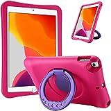 ProCase Funda Infantil iPad 10.2 2019/ iPad Pro 10.5/ iPad Air 3 10.5, Carcasa Niño Antigolpes con Asa Convertible Tapa de Soporte para iPad 10.2' 7.ª, iPad Pro 10.5', iPad Air 10.5' 3.ª -Magenta
