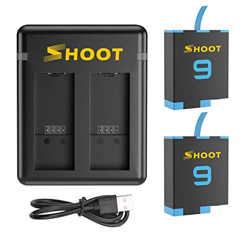 SHOOT para GoPro Hero 9 Batería 1800mAh AHDBT-901 Paquete de batería de...