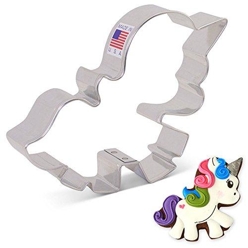 Ann Clark Cookie Cutters Cortador de galletas unicornio adorable - 8,3 cm
