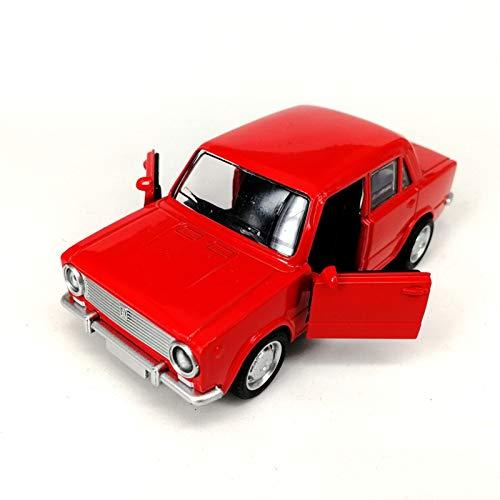 BWHM Modelo De Coche Famoso 1 / 36Diecast Modelo De Automóviles 12,5 Cm para Vehículos De Juguetes De Automóviles Classic Lada Soviéticos para Niños Puertas Abiertas del Automóvil 2