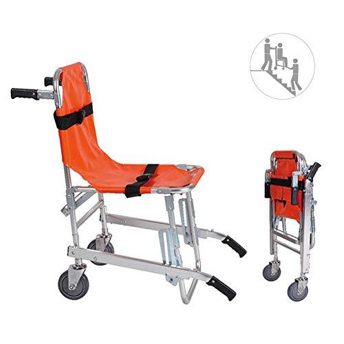SuRose Silla para escaleras - Ambulancia Ligera de Aluminio Bombero con evacuación para evacuación médica Silla para escaleras con Hebillas de liberación rápida