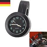 BALLSHOP 7/8 '' Motorraduhr Uhr Uhren Clock Für Motorrad Fahrrad Lenkeruhr Wasserdicht (Ohne Batterie)