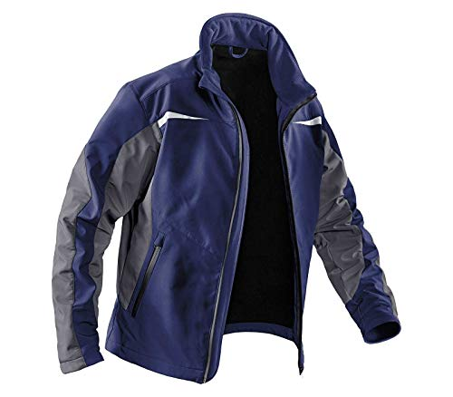 KÜBLER Softshell Jacke Weather, Farbe: Dunkelblau/Anthrazit, Größe: 4XL