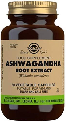 Solgar Ashwagandha - Extracto estandarizado de raíz de Ashwagandha, Apto para veganos