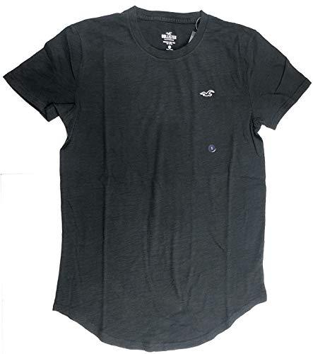 Hollister Herren T-Shirt Graphic V-Ausschnitt Rundhalsausschnitt -  Schwarz -  X-Groß