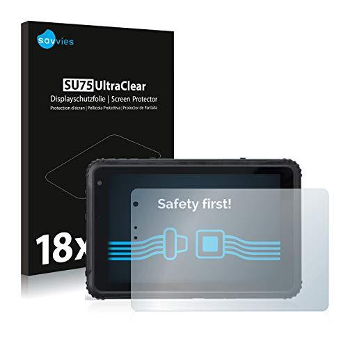 Savvies 18x Schutzfolie kompatibel mit Caterpillar Cat T20 Pro Bildschirmschutz-Folie Ultra-transparent