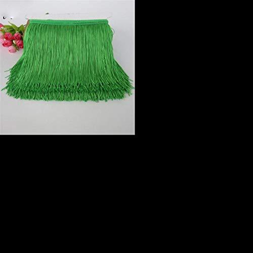 1 meter 15cm lange franje kant kwast polyester kant trim lint latin dans rok gordijn franjes voor het naaien van diy accessoires, groen