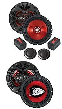 BOSS Audio CH6CK 6.5-Inch 2-Way 350 Watt Component Car Audio Speakers and CH6530 Chaos Exxtreme 6.5-Inch 3-Way 300 Watt Car Audio Speakers Package